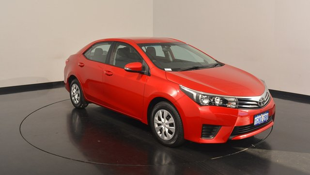 Used Toyota Corolla ZRE172R Ascent S-CVT, 2016 Toyota Corolla ZRE172R Ascent S-CVT Red 7 Speed Constant Variable Sedan