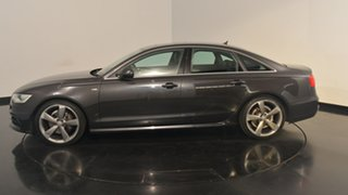 2012 Audi A6 4G S tronic quattro Black 7 Speed Sports Automatic Dual Clutch Sedan.