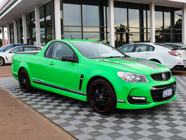 Used Holden Ute VF II MY17 Magnum Ute, 2017 Holden Ute VF II MY17 Magnum Ute Spitfire Green 6 Speed Manual Utility