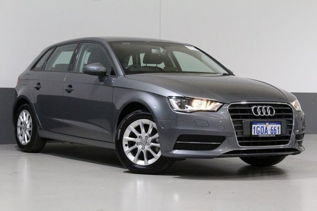 Used Audi A3 8V MY16 Sportback 1.4 TFSI Attraction, 2016 Audi A3 8V MY16 Sportback 1.4 TFSI Attraction Monsoon Grey 7 Speed Auto Direct Shift Hatchback