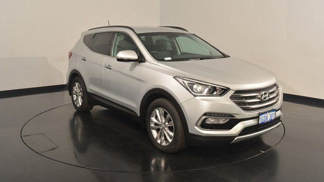 Used Hyundai Santa Fe DM3 MY16 Elite, 2016 Hyundai Santa Fe DM3 MY16 Elite Sleek Silver 6 Speed Sports Automatic Wagon