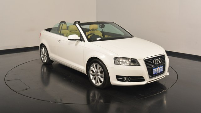 Used Audi A3 8P MY12 Attraction S tronic, 2011 Audi A3 8P MY12 Attraction S tronic White 7 Speed Sports Automatic Dual Clutch Convertible