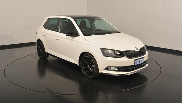 Used Skoda Fabia NJ MY17 81TSI DSG Monte Carlo, 2017 Skoda Fabia NJ MY17 81TSI DSG Monte Carlo Candy White 7 Speed Sports Automatic Dual Clutch