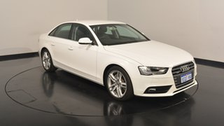 2014 Audi A4 B8 8K MY14 S tronic quattro White 7 Speed Sports Automatic Dual Clutch Sedan.