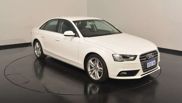 Used Audi A4 B8 8K MY14 S tronic quattro, 2014 Audi A4 B8 8K MY14 S tronic quattro White 7 Speed Sports Automatic Dual Clutch Sedan