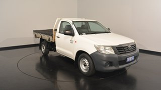2013 Toyota Hilux TGN16R MY12 Workmate 4x2 White 4 Speed Automatic Cab Chassis.