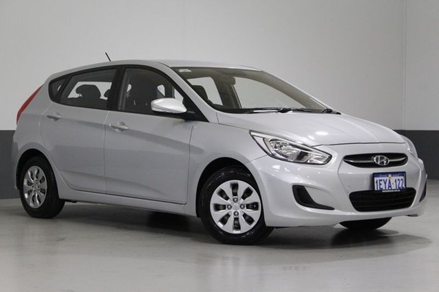 Used Hyundai Accent RB3 MY16 Active, 2015 Hyundai Accent RB3 MY16 Active Silver 6 Speed CVT Auto Sequential Hatchback