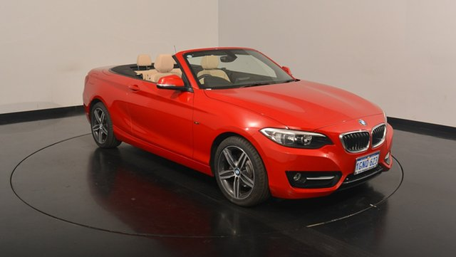 Used BMW 220i F23 Sport Line, 2015 BMW 220i F23 Sport Line Red 8 Speed Sports Automatic Convertible