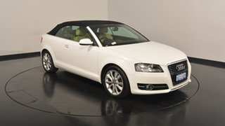 2011 Audi A3 8P MY12 Attraction S tronic White 7 Speed Sports Automatic Dual Clutch Convertible.