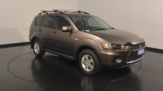 2012 Mitsubishi Outlander ZH MY12 LS 2WD Ironbark 6 Speed Constant Variable Wagon.
