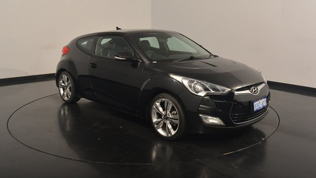Used Hyundai Veloster FS2 + Coupe D-CT, 2013 Hyundai Veloster FS2 + Coupe D-CT Black 6 Speed Sports Automatic Dual Clutch Hatchback