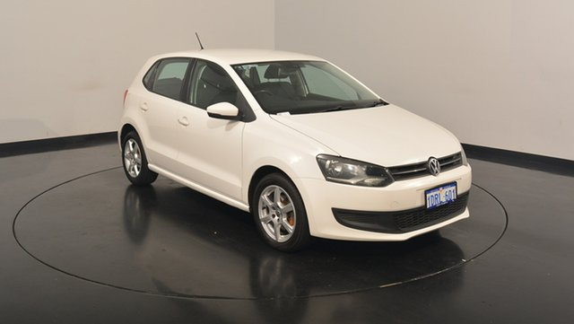 Used Volkswagen Polo 6R MY11 77TSI DSG Comfortline, 2011 Volkswagen Polo 6R MY11 77TSI DSG Comfortline Candy White 7 Speed Sports Automatic Dual Clutch