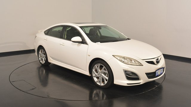Used Mazda 6 GH1052 MY12 Luxury Sports, 2012 Mazda 6 GH1052 MY12 Luxury Sports White 5 Speed Sports Automatic Hatchback