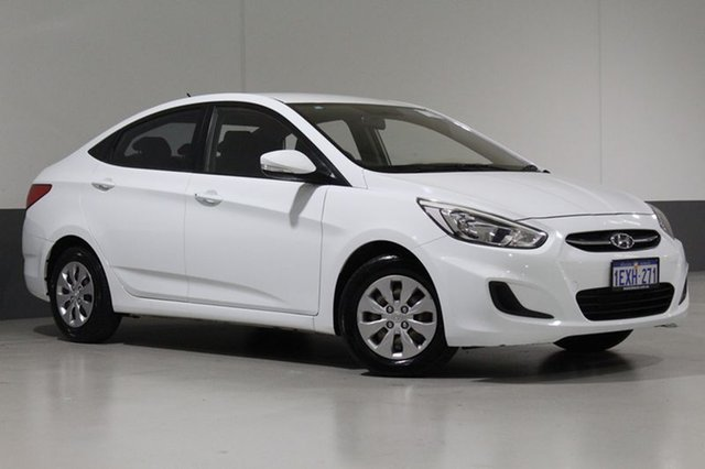 Used Hyundai Accent RB3 MY16 Active, 2015 Hyundai Accent RB3 MY16 Active White 6 Speed CVT Auto Sequential Sedan