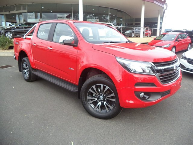 Demo Holden Colorado RG MY18 LTZ Pickup Crew Cab, 2018 Holden Colorado RG MY18 LTZ Pickup Crew Cab Absolute Red 6 Speed Sports Automatic Utility