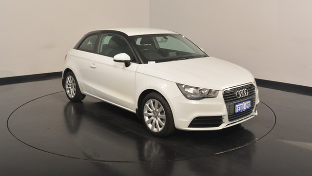 Used Audi A1 8X MY13 Attraction Sportback S tronic, 2012 Audi A1 8X MY13 Attraction Sportback S tronic White 7 Speed Sports Automatic Dual Clutch