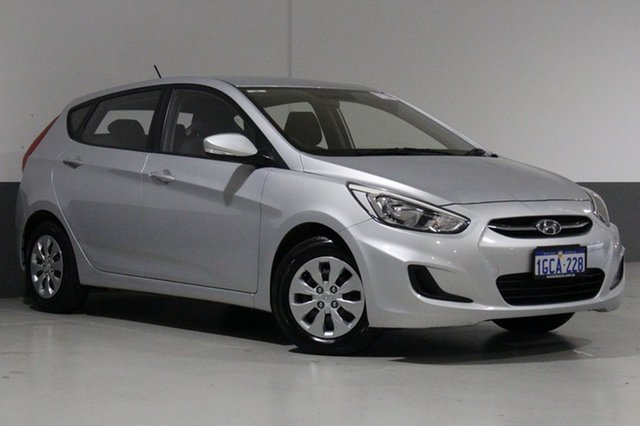 Used Hyundai Accent RB4 MY16 Active, 2016 Hyundai Accent RB4 MY16 Active Silver 6 Speed CVT Auto Sequential Hatchback