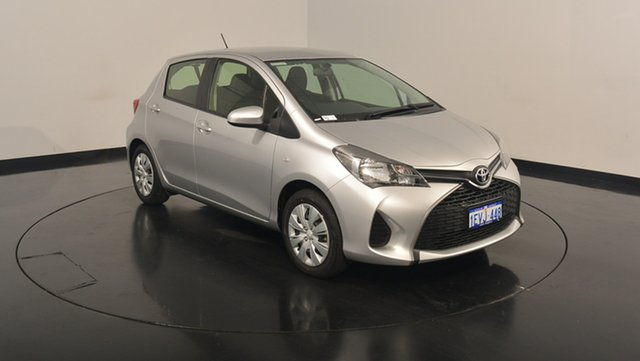 Used Toyota Yaris NCP130R Ascent, 2015 Toyota Yaris NCP130R Ascent Silver 4 Speed Automatic Hatchback