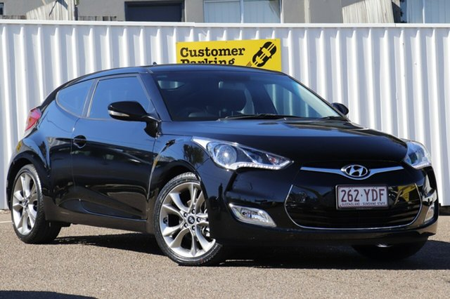 Used Hyundai Veloster FS4 Series II Coupe, 2015 Hyundai Veloster FS4 Series II Coupe Black 6 Speed Manual Hatchback