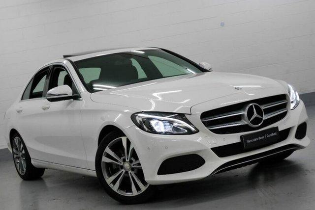 Used Mercedes-Benz C200 W205 807+057MY 9G-TRONIC, 2017 Mercedes-Benz C200 W205 807+057MY 9G-TRONIC White 9 Speed Sports Automatic Sedan