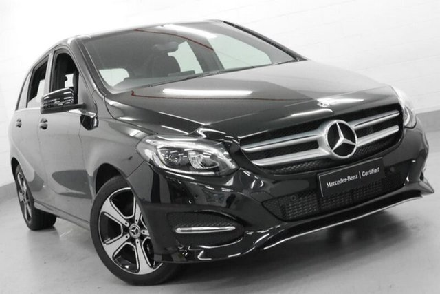 Used Mercedes-Benz B180 W246 808+058MY DCT, 2017 Mercedes-Benz B180 W246 808+058MY DCT Black 7 Speed Sports Automatic Dual Clutch Hatchback