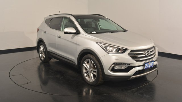 Used Hyundai Santa Fe DM3 MY16 Highlander, 2016 Hyundai Santa Fe DM3 MY16 Highlander Sleek Silver 6 Speed Sports Automatic Wagon