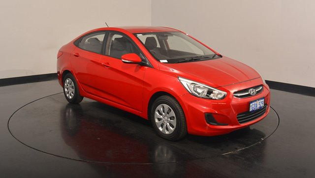 Used Hyundai Accent RB4 MY17 Active, 2017 Hyundai Accent RB4 MY17 Active Veloster Red 6 Speed Constant Variable Sedan