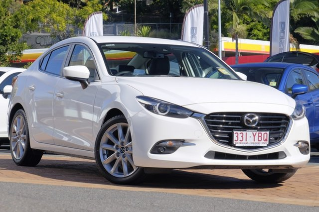 Demo Mazda 3 BN5238 SP25 SKYACTIV-Drive GT, 2017 Mazda 3 BN5238 SP25 SKYACTIV-Drive GT Snowflake White 6 Speed Sports Automatic Sedan