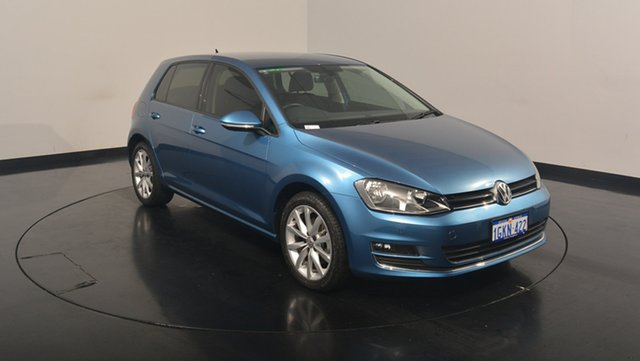Used Volkswagen Golf VII MY17 110TDI DSG Highline, 2017 Volkswagen Golf VII MY17 110TDI DSG Highline Pacific Blue 6 Speed Sports Automatic Dual Clutch