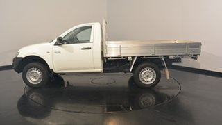 2012 Mitsubishi Triton MN MY12 GL White Solid 5 Speed Manual Cab Chassis.