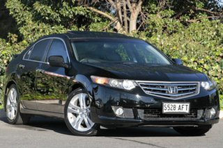 2009 Honda Accord Euro CU MY10 Luxury Navi Crystal Black 5 Speed Automatic Sedan.