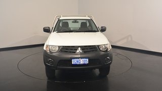 2012 Mitsubishi Triton MN MY12 GL White Solid 5 Speed Manual Cab Chassis