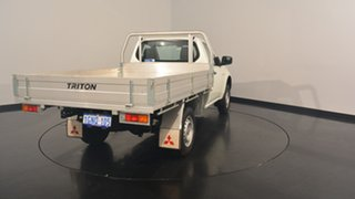 2012 Mitsubishi Triton MN MY12 GL 4x2 White Solid 5 Speed Manual Cab Chassis