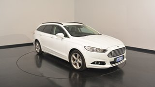 2017 Ford Mondeo MD 2017.50MY Trend PwrShift Frozen White 6 Speed Sports Automatic Dual Clutch Wagon.