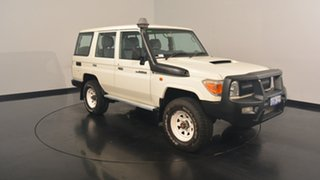 2012 Toyota Landcruiser VDJ76R MY13 Workmate White 5 Speed Manual Wagon.