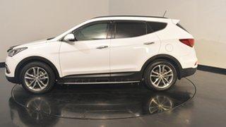 2017 Hyundai Santa Fe DM3 MY17 Highlander Pure White 6 Speed Sports Automatic Wagon.