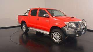 2014 Toyota Hilux KUN26R MY14 SR5 Double Cab Red 5 Speed Automatic Utility