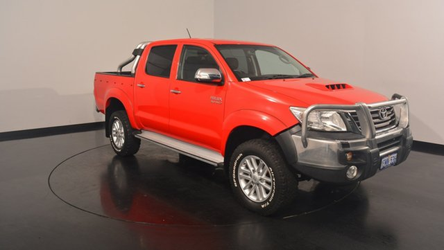 Used Toyota Hilux KUN26R MY14 SR5 Double Cab, 2014 Toyota Hilux KUN26R MY14 SR5 Double Cab Red 5 Speed Automatic Utility
