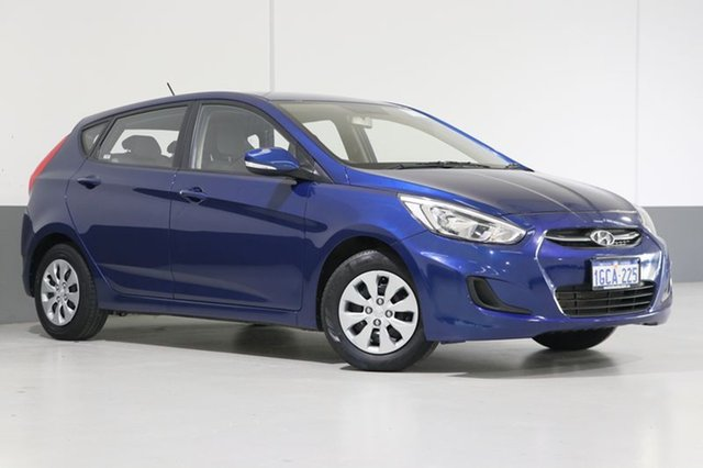 Used Hyundai Accent RB4 MY16 Active, 2016 Hyundai Accent RB4 MY16 Active Blue 6 Speed CVT Auto Sequential Hatchback
