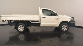 2013 Toyota Hilux KUN26R MY12 Workmate White 5 Speed Manual Cab Chassis