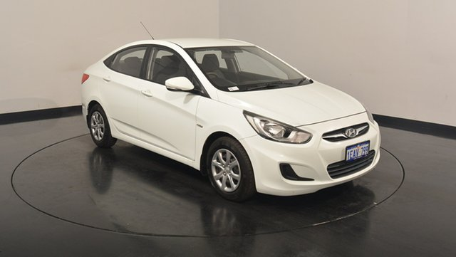 Used Hyundai Accent RB Active, 2012 Hyundai Accent RB Active White 4 Speed Sports Automatic Sedan