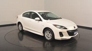 2013 Mazda 3 BL1072 MY13 SP20 SKYACTIV-Drive SKYACTIV White 6 Speed Sports Automatic Sedan
