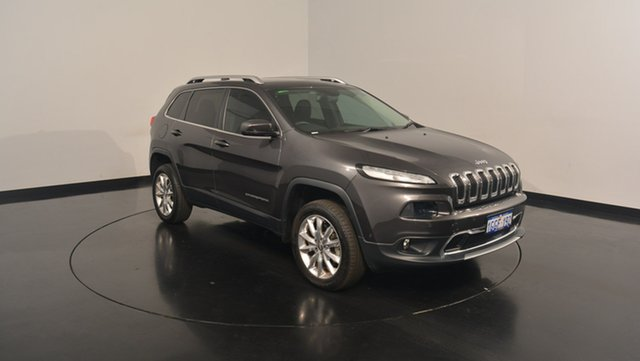 Used Jeep Cherokee KL MY15 Limited, 2015 Jeep Cherokee KL MY15 Limited Granite Crystal Metallic 9 Speed Sports Automatic Wagon