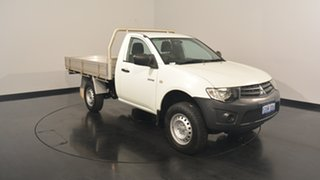 2013 Mitsubishi Triton MN MY13 GLX 4x2 White 5 Speed Manual Cab Chassis.
