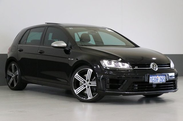 Used Volkswagen Golf AU MY15 R, 2015 Volkswagen Golf AU MY15 R Black 6 Speed Direct Shift Hatchback
