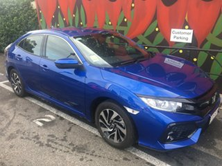 2018 Honda Civic 10th Gen MY18 VTi-S Brilliant Sporty Blue 1 Speed Constant Variable Hatchback