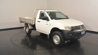2013 Mitsubishi Triton MN MY13 GLX 4x2 White 5 Speed Manual Cab Chassis