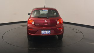 2016 Mitsubishi Mirage LA MY16 ES Blueberry 1 Speed Constant Variable Hatchback