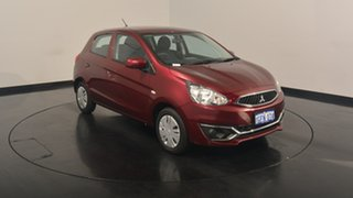 2016 Mitsubishi Mirage LA MY16 ES Blueberry 1 Speed Constant Variable Hatchback.