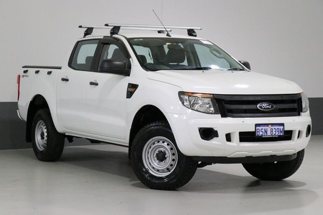 Used Ford Ranger PX XL 2.2 HI-Rider (4x2), 2014 Ford Ranger PX XL 2.2 HI-Rider (4x2) White 6 Speed Manual Crew Cab Pickup